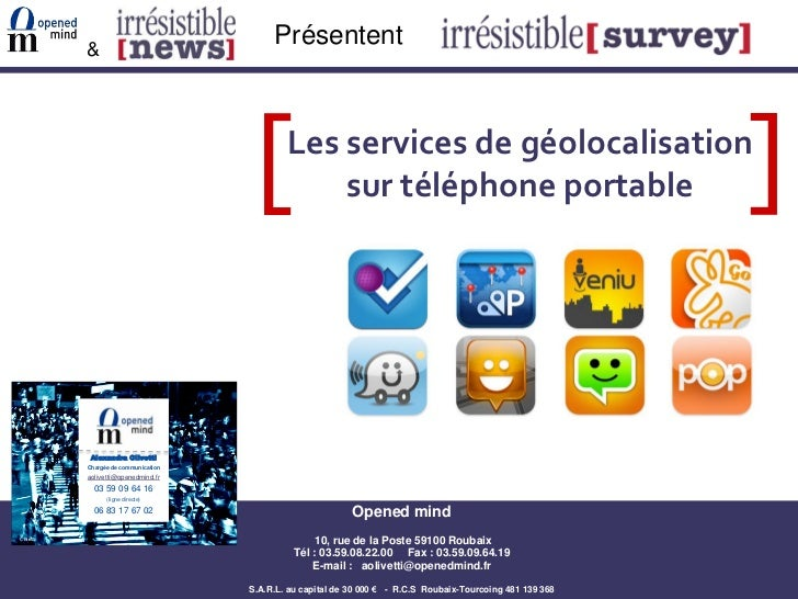 Opened mind geolocalisation sur les mobiles
