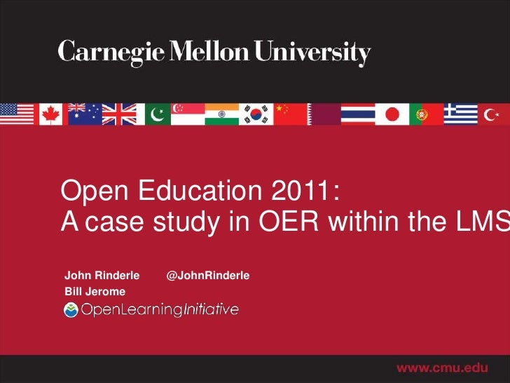 Open Education 2011: A case study in OER within the LMS