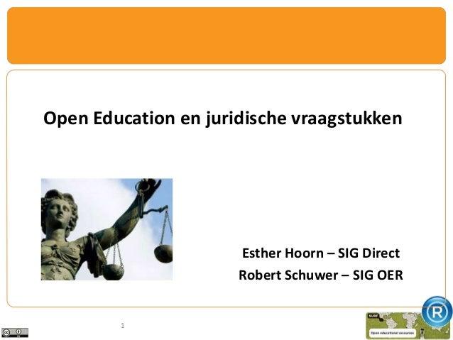 Opening up education: juridische vraagstukken - Esther Hoorn en Robert Schuwer - OWD13