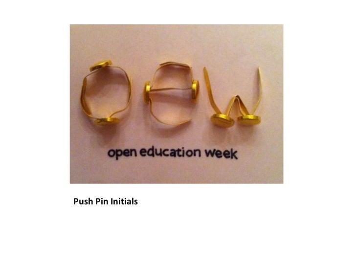Push Pin Initials