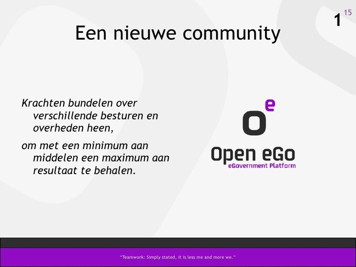 Open eGo, open source eGov-platform - Congres 2009 - V-ICT-OR