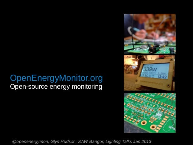 Open energymonitor saw lightning talk jan 2013
