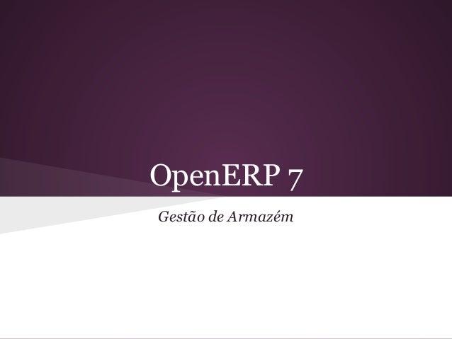 Gestão de estoque - OpenERP 7