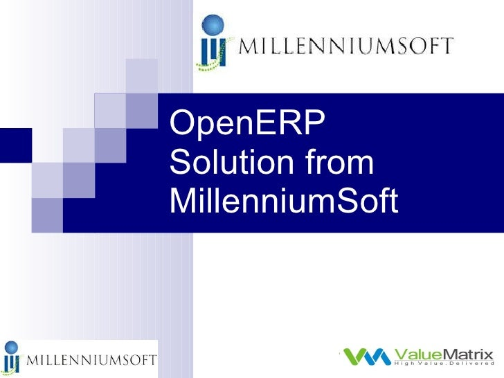 OpenERP Solution from MillenniumSoft