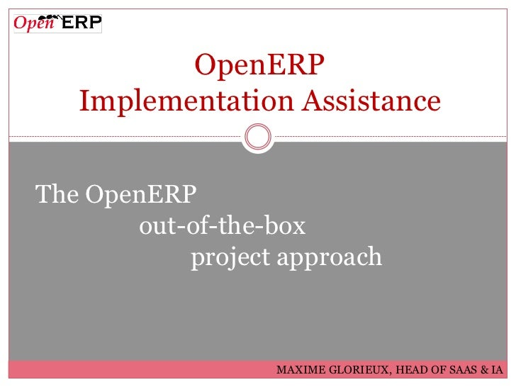 OpenERP Implementation Assistance  -  Customers