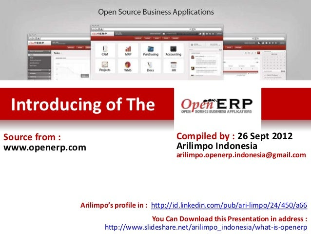 Introducing of TheSource from :                             Compiled by : 26 Sept 2012www.openerp.com                     ...