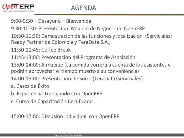 OpenERP Seminar - business model (Spanish)