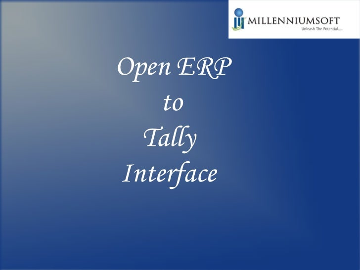 Open ERP to  Tally  Interface