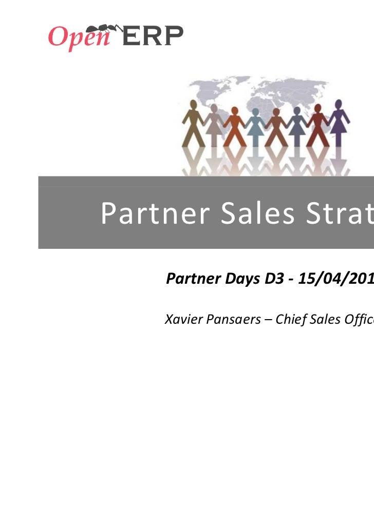 OpenERP Xavier Pansaers Sales Strategy