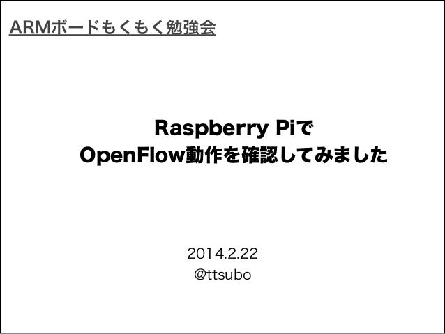 OpenFlow in Raspberry Pi