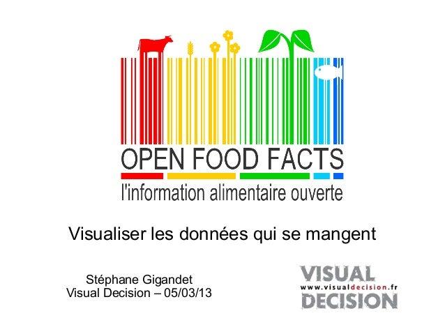 Visualiser les données qui se mangent   Stéphane GigandetVisual Decision – 05/03/13