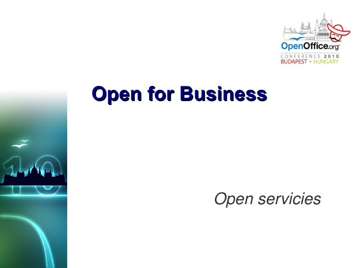 Open for Business Open servicies