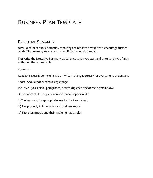 Openfund business plan template (pre seed)