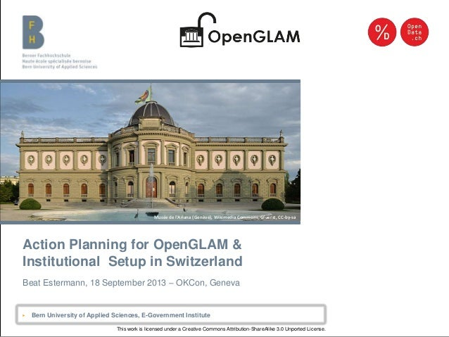Open GLAM CH presentation 20130918
