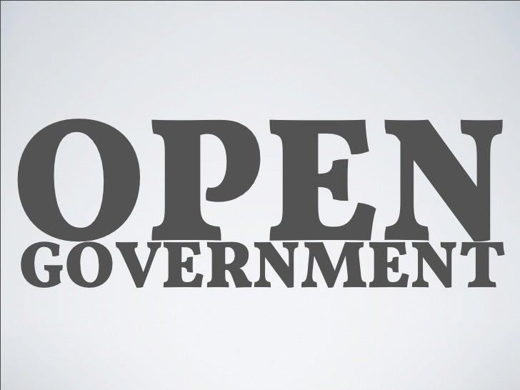 OPen Government Vortrag Aachen