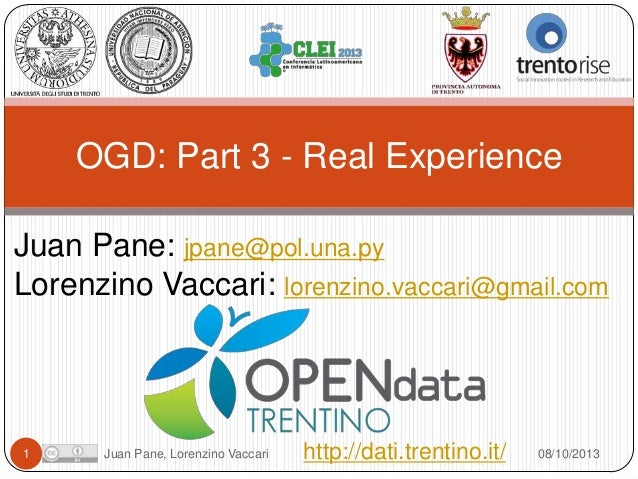 Open Government Data Tutorial at CLEI 2013. Part 3 Real Experience