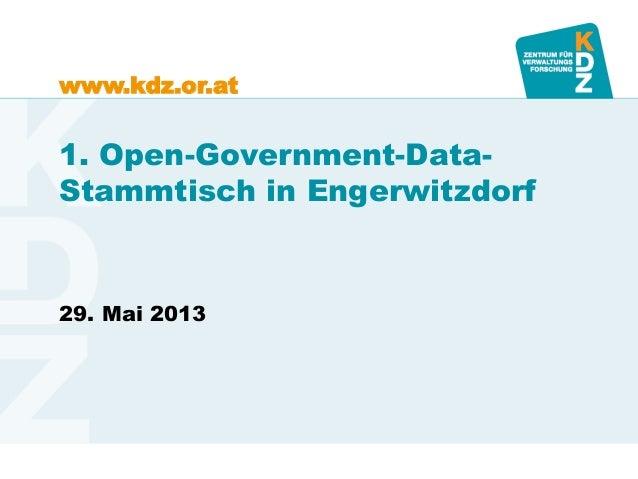 www.kdz.or.at1. Open-Government-Data-Stammtisch in Engerwitzdorf29. Mai 2013