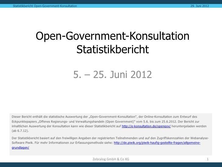 Statistikbericht Open-Government-Konsultation                                                                             ...