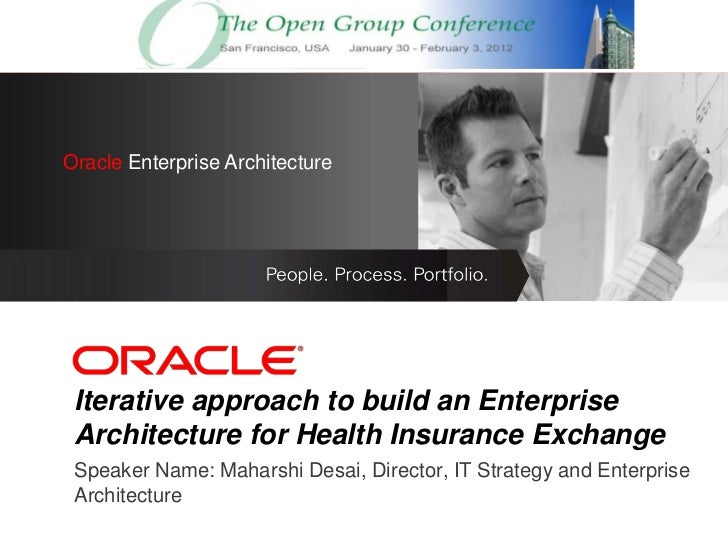 OracleEnterprise Architecture Oracle Enterprise Architecture     <Insert Picture Here> Iterative approach to build an Ente...
