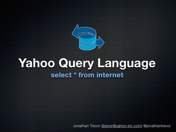 YQL Open Hackday NYC talk