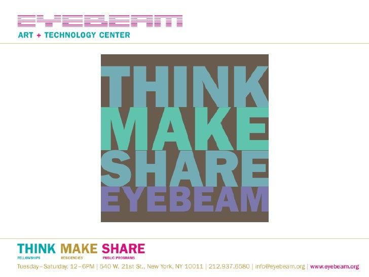 Eyebeam presentation: Open Hardware Summit