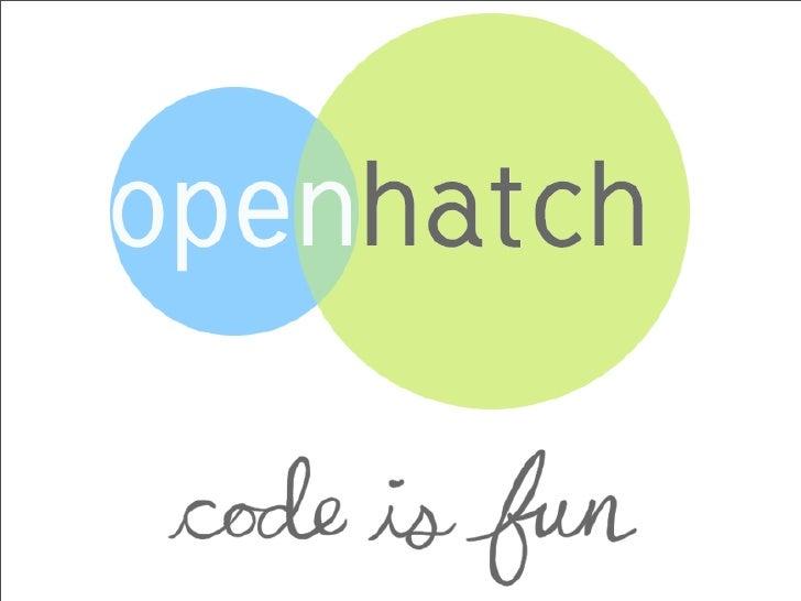 OpenHatch Demo Day slides