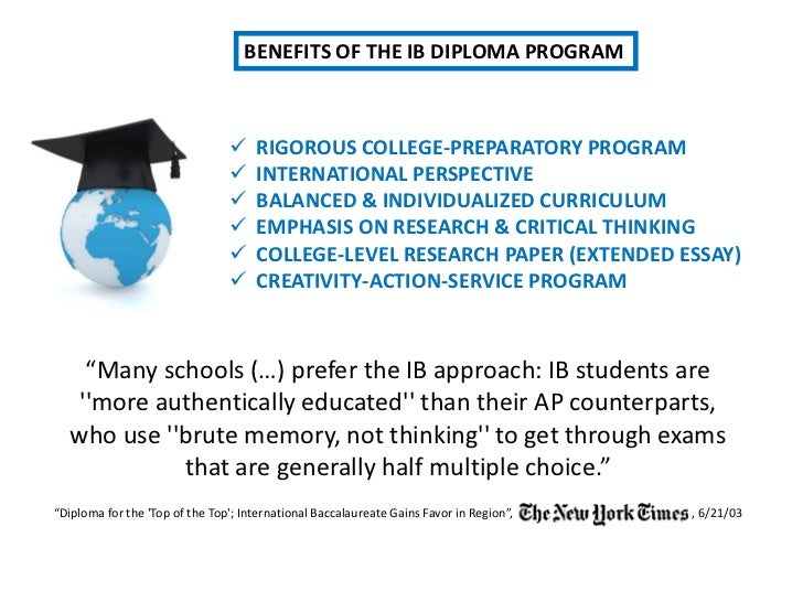 What are the benefits of doing the IB (international Baccalaureate)?