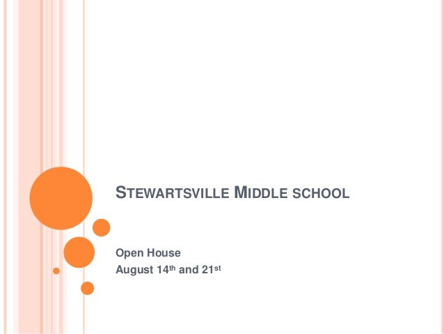STEWARTSVILLE MIDDLE SCHOOL Open House August 14th and 21st