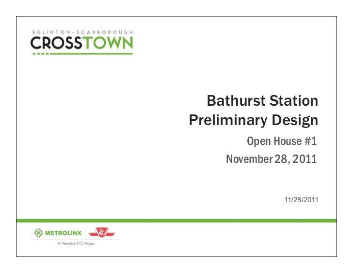 Bathurst Station Preliminary Design Consultation