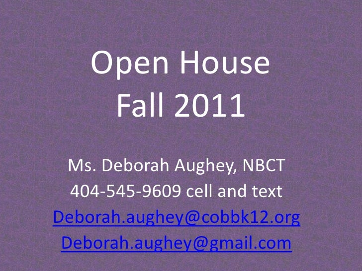 Open house fall 2011