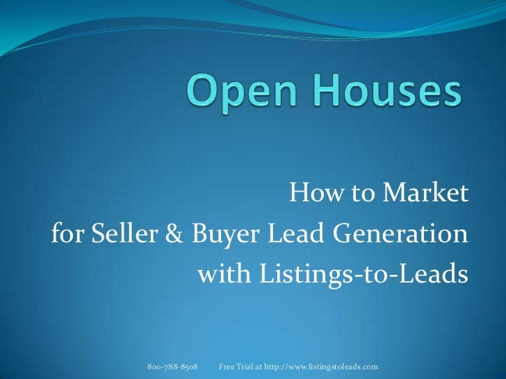 Open house marketing 032812 v2