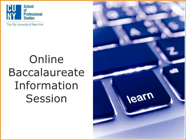 OnlineBaccalaureate Information   Session