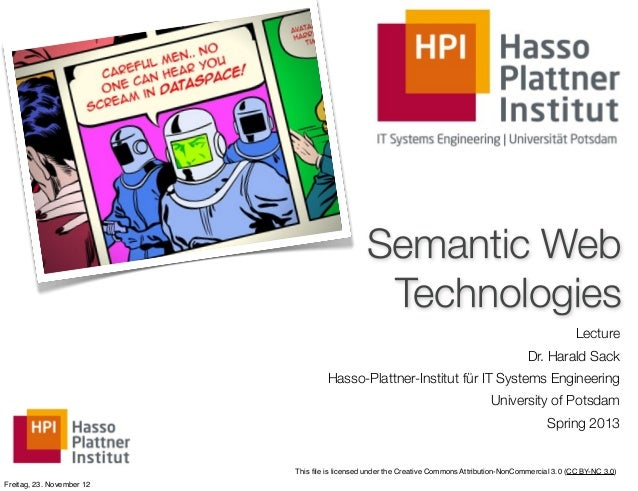 Semantic Web                                                Technologies                                                  ...