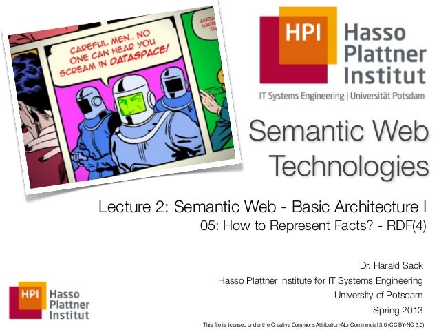 Semantic Web                                 TechnologiesLecture 2: Semantic Web - Basic Architecture I              05: H...