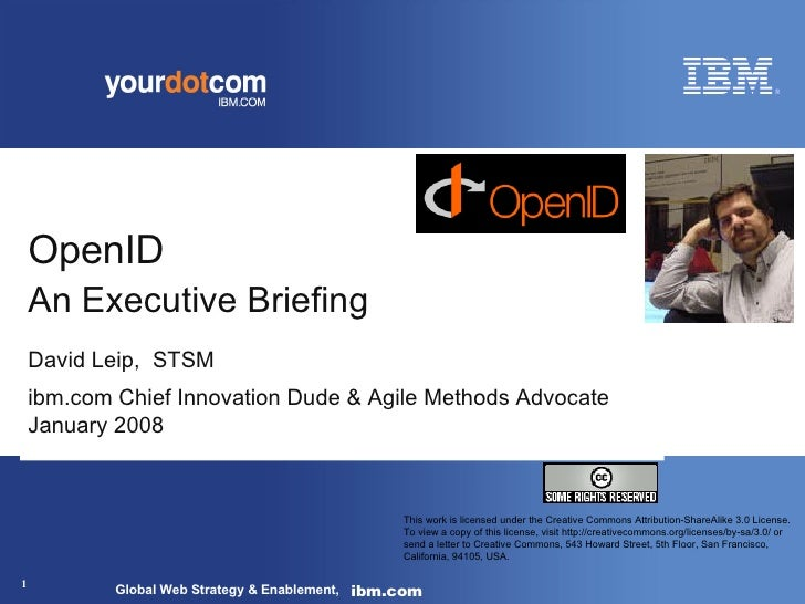 OpenID: An Executive Briefing