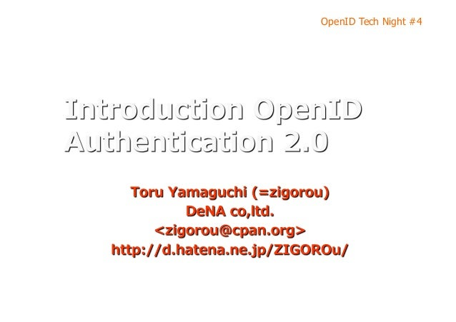 OpenID Tech Night #4
