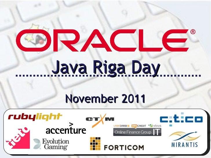 Java Riga Day 2011 Opening