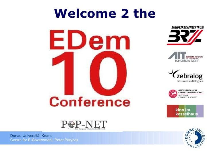 Opening EDem 2010