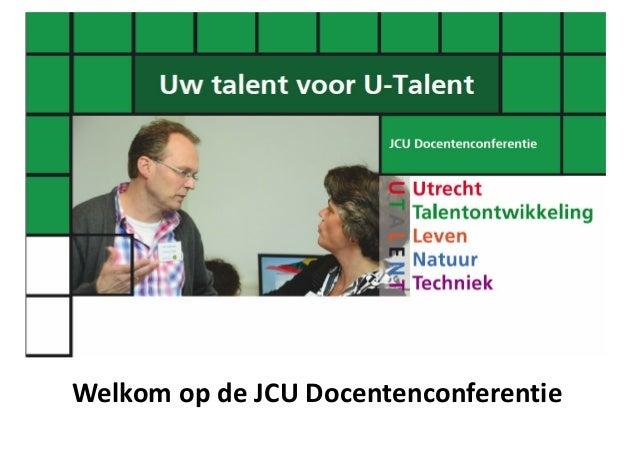 Opening JCU conferentie 2013