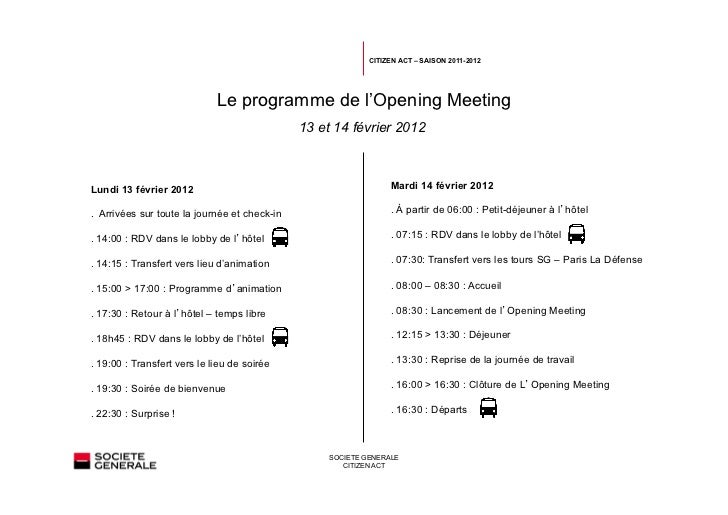 Programme Opening meeting - Citizen Act 2012