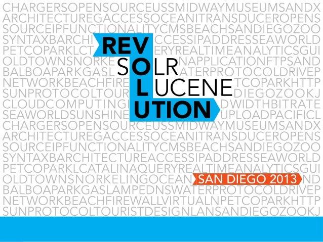Lucene/Solr Revolution 2013: Paul Doscher Opening Remarks