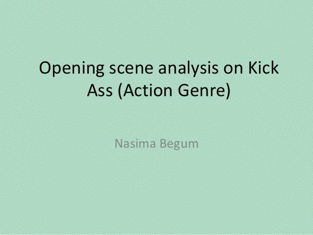 Opening scene analysis on kick ass and Batman