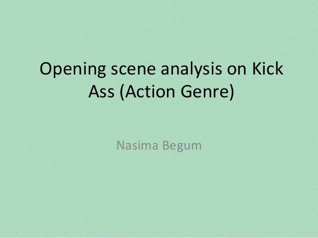 Opening scene analysis on kick ass (action)