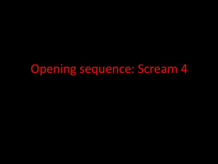 Opening sequence: Scream 4