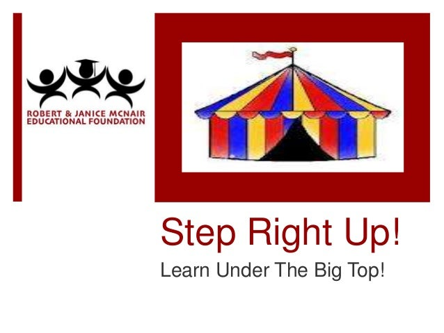 Step Right Up!Learn Under The Big Top!