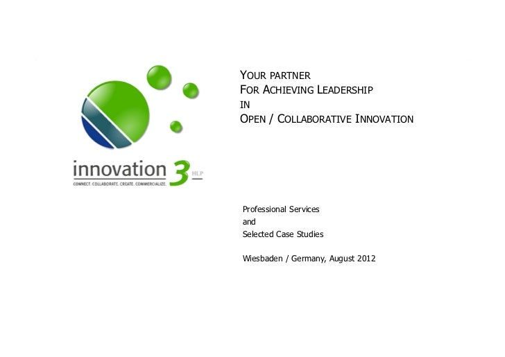 Open innovation consulting services
