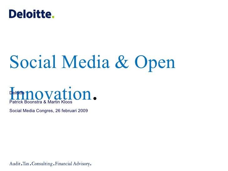 Open Innovation Deloitte Def #smc