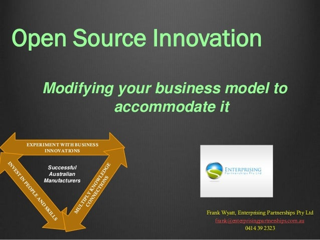Open innovation presentation austech 2013