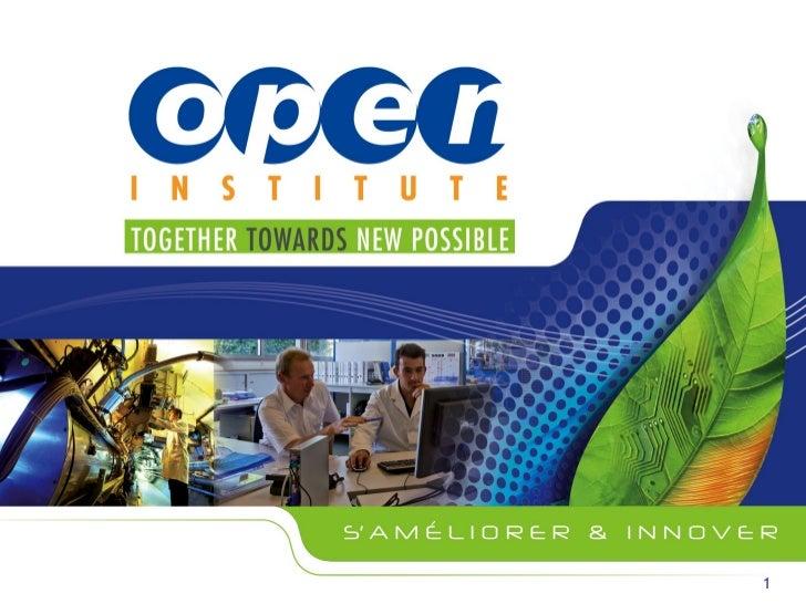 Open Institute: une expérience concrète d'ouverture pour l'innovation