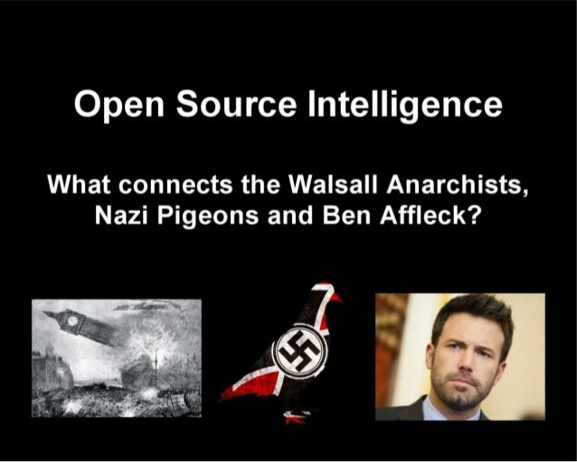 Open intelligence by tom secker